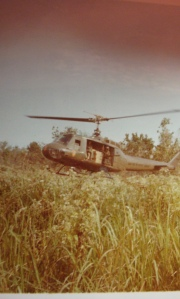 Resupply chopper landed