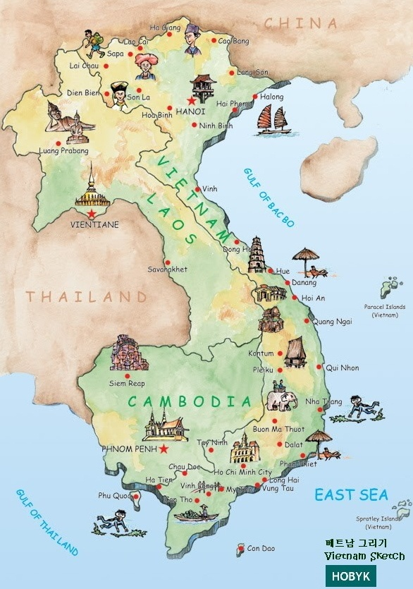 Map Thailand Cultural Features