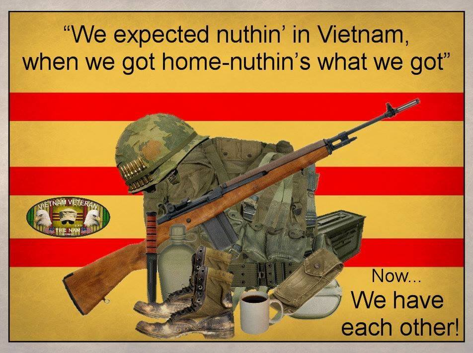the veterans are coming It's due to the isolated and disconnected society our soldiers are coming home to he argues that returning to the individualism and loneliness of western society makes soldiers desperately miss the sense of connection and closeness they felt with their comrades, and makes it difficult for them to recover.