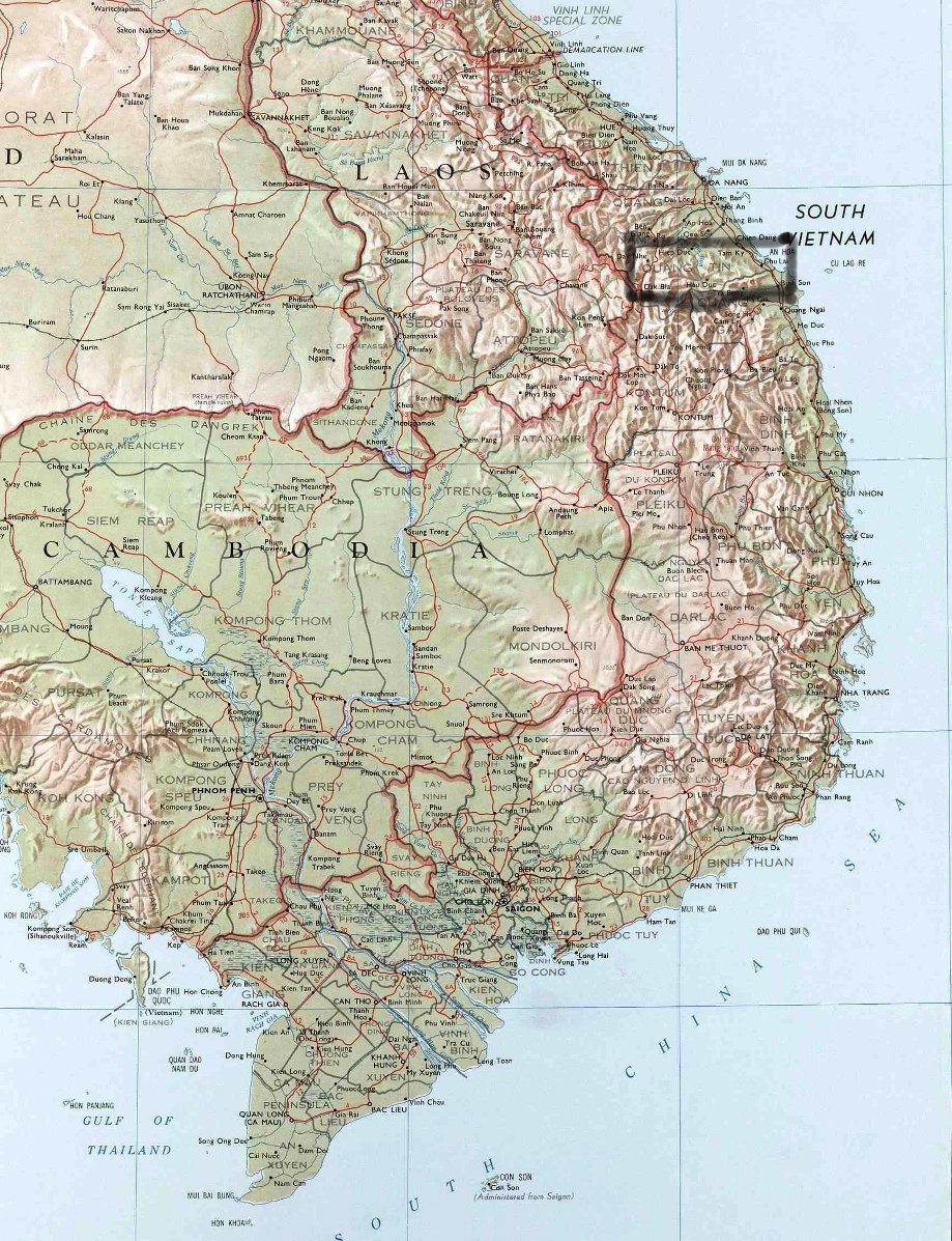 VC Overrun Fire Support Base Mary Ann  Cherries  A Vietnam War Novel - Map of us bases in south vietnam