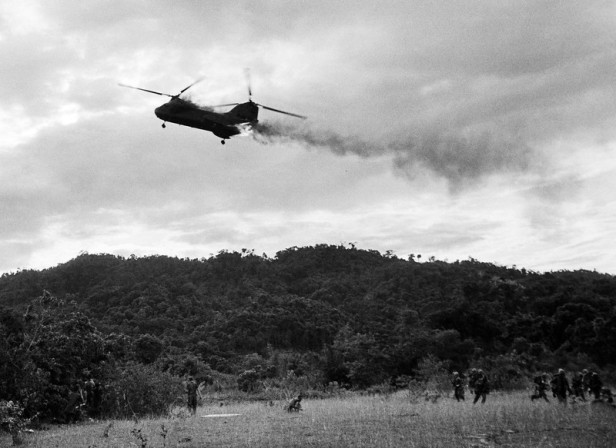 Vietnam War Helicopter Downed