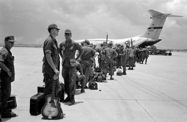 Troops Leae South Vietnam
