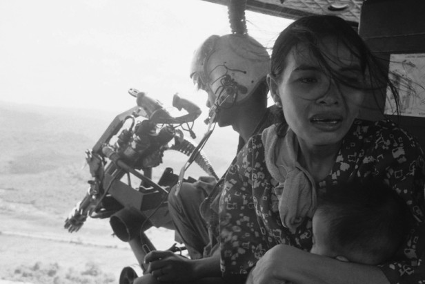 Vietnam (S) Refugees Fleeing Helicopter