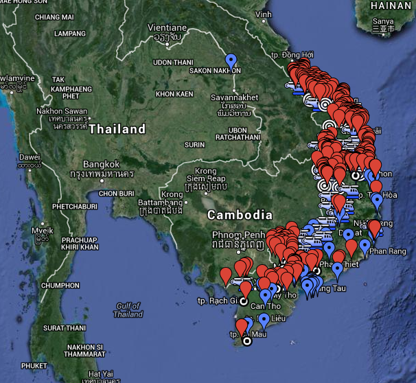 Military Bases in Vietnam 1963 – 1975 (REVISED
