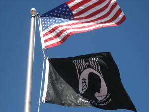American-and-POWMIA-flags